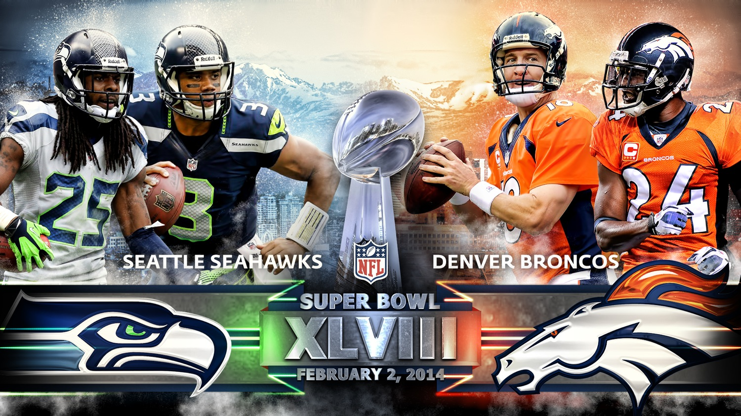 Super bowl xlviii seattle seahawks vs denver broncos shaw sports voltagebd Images