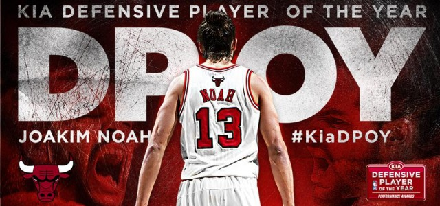 It wasn't close and many expected it would be. Joakim Noah won the NBA's Defensive Player of the Year award […]