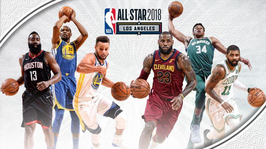 54808270d792 Team LeBron shines in NBA All-Star Game 2018